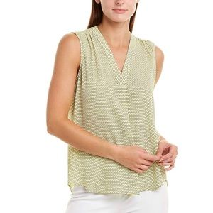 Vince Camuto | yellow vneck top | small | nwt